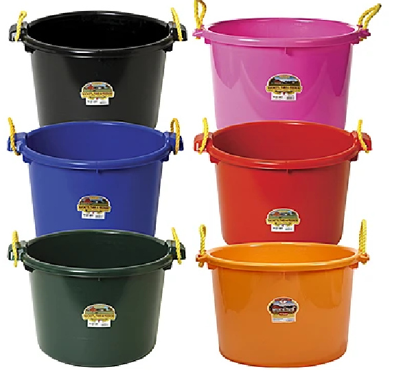 Little Giant Muck Bucket red
